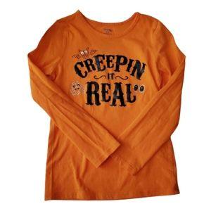 GEORGE Girls Tee Orange Halloween Size 6